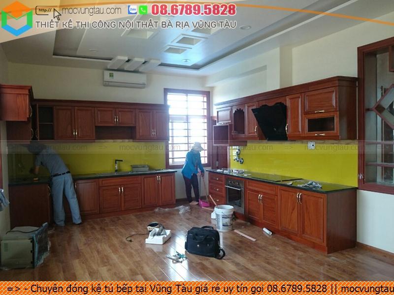 Chuyên đóng kệ tủ bếp tại Vũng Tàu giá rẻ uy tín gọi 08.6789.5828