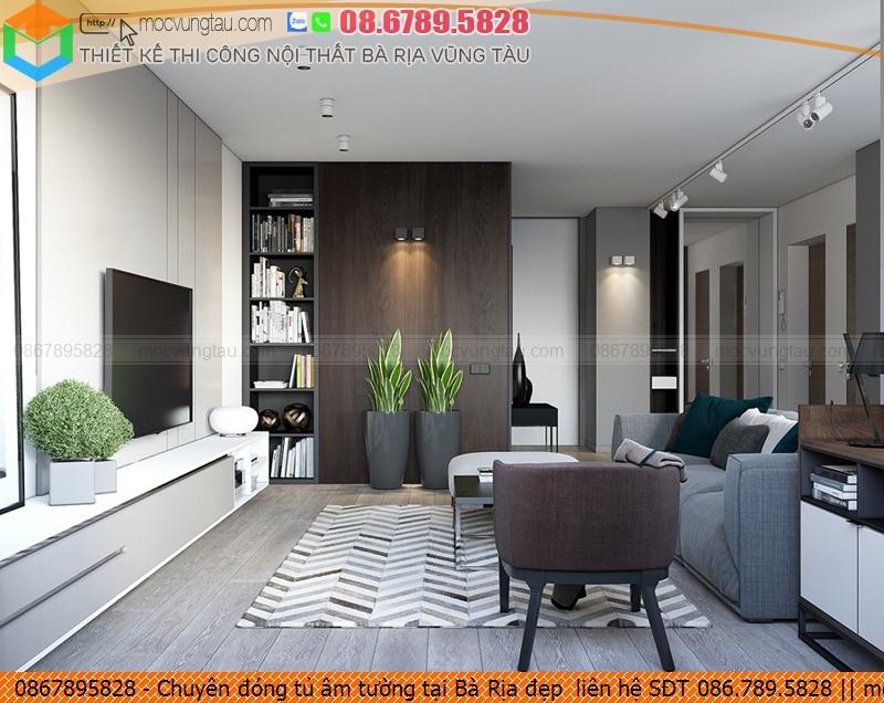 Chuyên đóng tủ âm tường tại Bà Rịa đẹp  liên hệ SĐT 086.789.5828