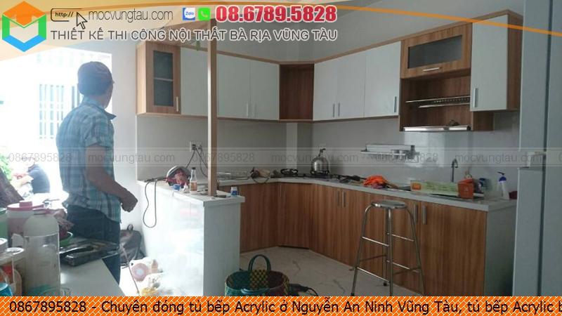 Chuyên đóng tủ bếp Acrylic ở Nguyễn An Ninh Vũng Tàu, tủ bếp Acrylic bền đẹp Nguyễn An Ninh Vũng Tàu chuyên nghiệp liên hệ Hotline 08.6789.5828 082619XU1