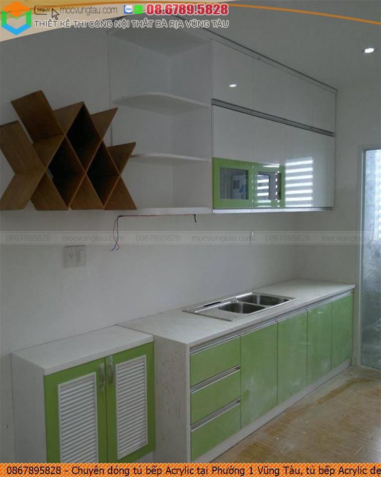 Chuyên đóng tủ bếp Acrylic tại Phường 1 Vũng Tàu, tủ bếp Acrylic đẹp Phường 1 Vũng Tàu uy tín liên hệ SĐT 08-6789-5828