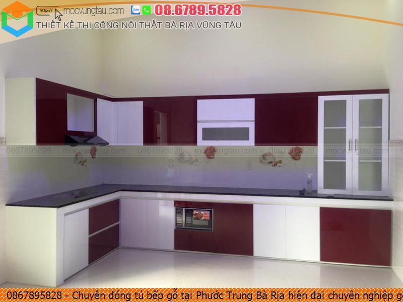 Chuyên đóng tủ bếp gỗ tại Phước Trung Bà Rịa hiện đại chuyên nghiệp gọi 086789.5828 212619M5E