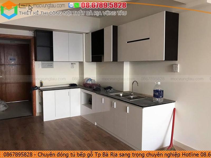 Chuyên đóng tủ bếp gỗ Tp Bà Rịa sang trọng chuyên nghiệp Hotline 08.6789.5828