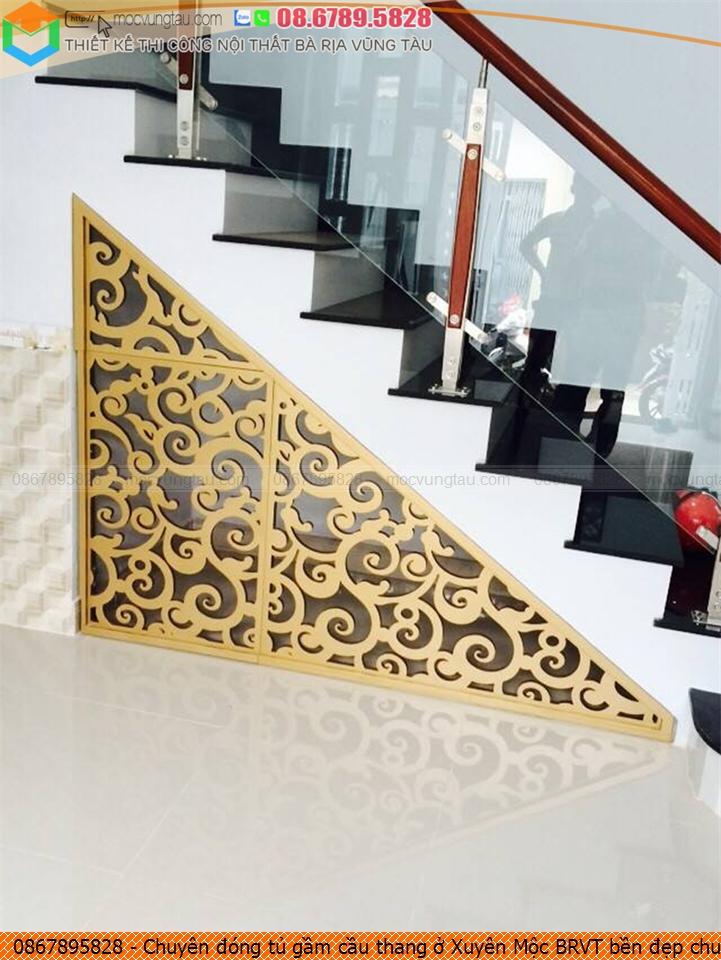 Chuyên đóng tủ gầm cầu thang ở Xuyên Mộc BRVT bền đẹp chuyên nghiệp SĐT 086789.5828
