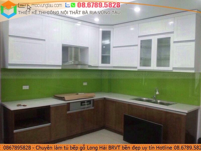 Chuyên làm tủ bếp gỗ Long Hải BRVT bền đẹp uy tín Hotline 08.6789.5828 572619LLY