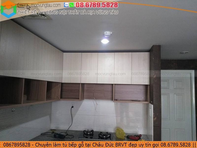 Chuyên làm tủ bếp gỗ tại Châu Đức BRVT đẹp uy tín gọi 08.6789.5828 432619G7X