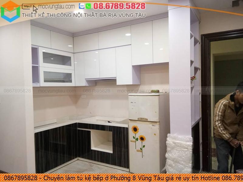 Chuyên làm tủ kệ bếp ở Phường 8 Vũng Tàu giá rẻ uy tín Hotline 086.789.5828 5526199WM