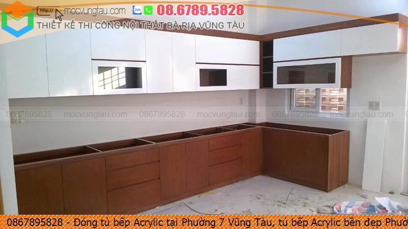 Đóng tủ bếp Acrylic tại Phường 7 Vũng Tàu, tủ bếp Acrylic bền đẹp Phường 7 Vũng Tàu chuyên nghiệp gọi Hotline 0867895828