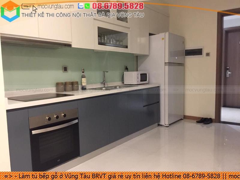 Làm tủ bếp gỗ ở Vũng Tàu BRVT giá rẻ uy tín liên hệ Hotline 08-6789-5828
