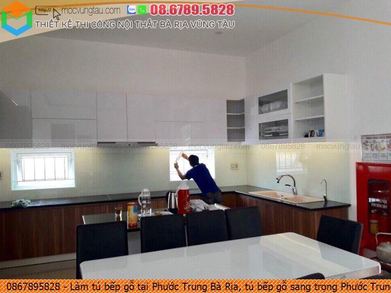 Làm tủ bếp gỗ tại Phước Trung Bà Rịa, tủ bếp gỗ sang trọng Phước Trung Bà Rịa chuyên nghiệp Hotline 08.6789.5828 3626199HP