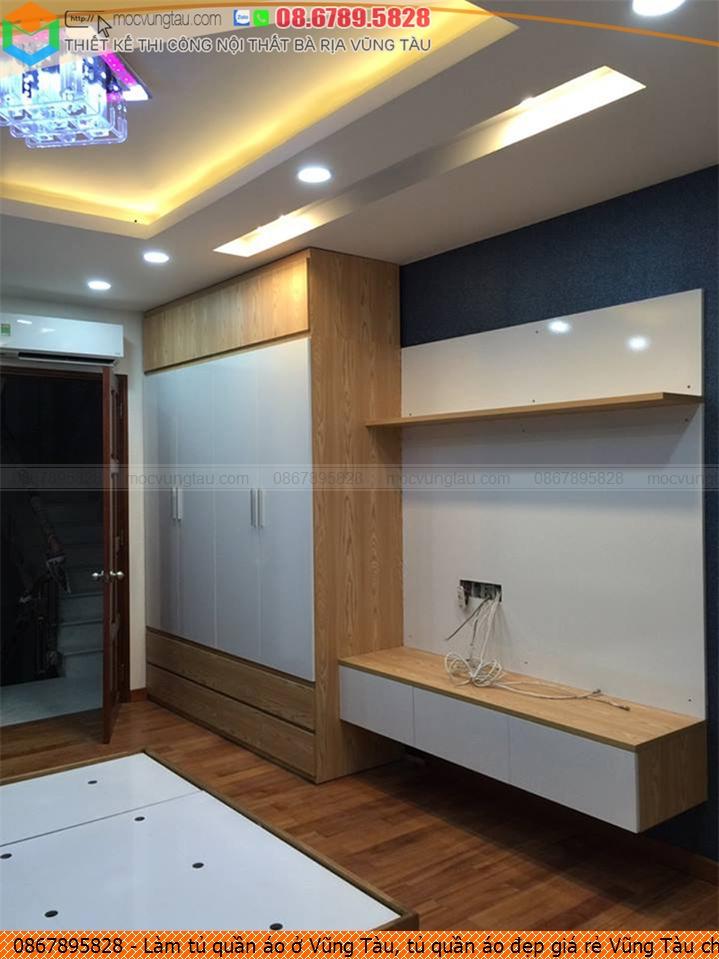 Làm tủ quần áo ở Vũng Tàu, tủ quần áo đẹp giá rẻ Vũng Tàu chuyên nghiệp Hotline 08-6789-5828