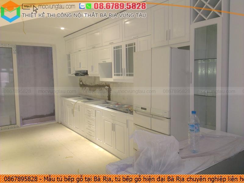 Mẫu tủ bếp gỗ tại Bà Rịa, tủ bếp gỗ hiện đại Bà Rịa chuyên nghiệp liên hệ SĐT 08.6789.5828 312619YBB