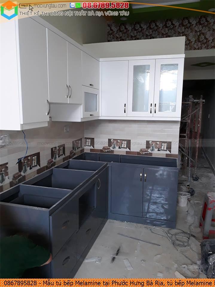 Mẫu tủ bếp Melamine tại Phước Hưng Bà Rịa, tủ bếp Melamine hiện đại Phước Hưng Bà Rịa chuyên nghiệp 08.6789.5828 252619GTQ