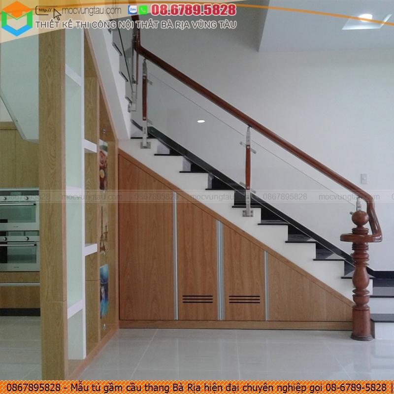 Mẫu tủ gầm cầu thang Bà Rịa hiện đại chuyên nghiệp gọi 08-6789-5828