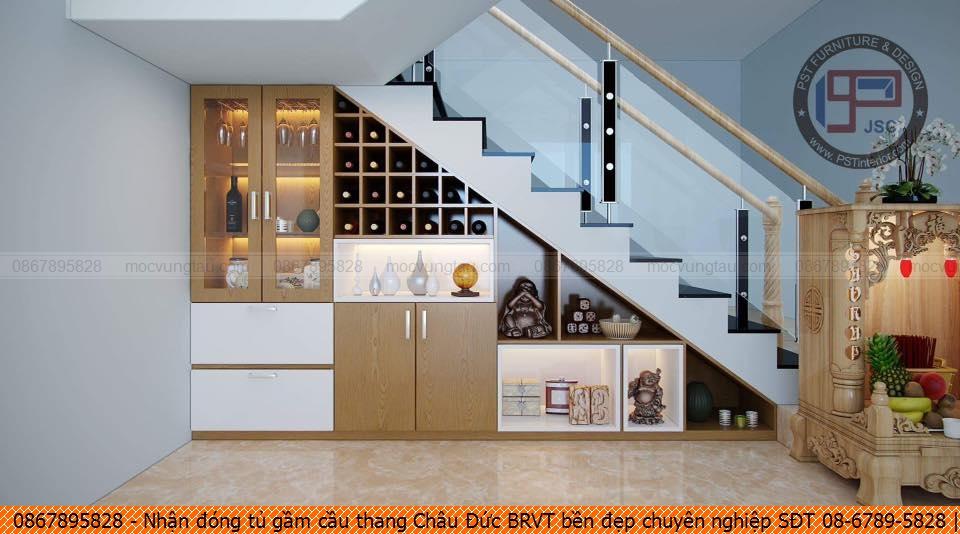 Nhận đóng tủ gầm cầu thang Châu Đức BRVT bền đẹp chuyên nghiệp SĐT 08-6789-5828