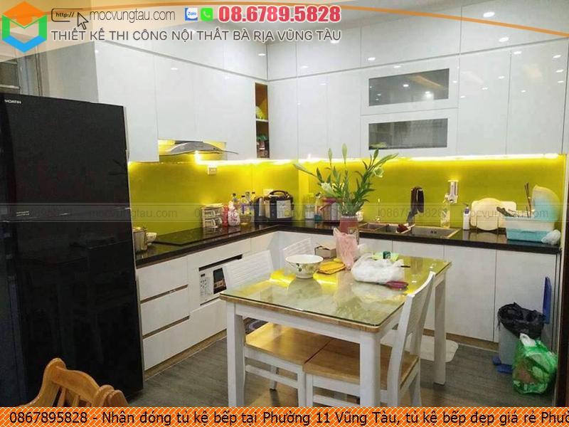 Nhận đóng tủ kệ bếp tại Phường 11 Vũng Tàu, tủ kệ bếp đẹp giá rẻ Phường 11 Vũng Tàu uy tín Hotline 086789.5828 232619CA4