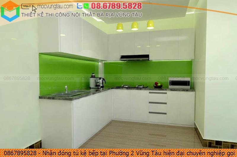 Nhận đóng tủ kệ bếp tại Phường 2 Vũng Tàu hiện đại chuyên nghiệp gọi 0867895828 5926194ZQ