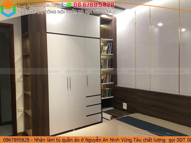 Nhận làm tủ quần áo ở Nguyễn An Ninh Vũng Tàu chất lượng  gọi SĐT 086-789-5828