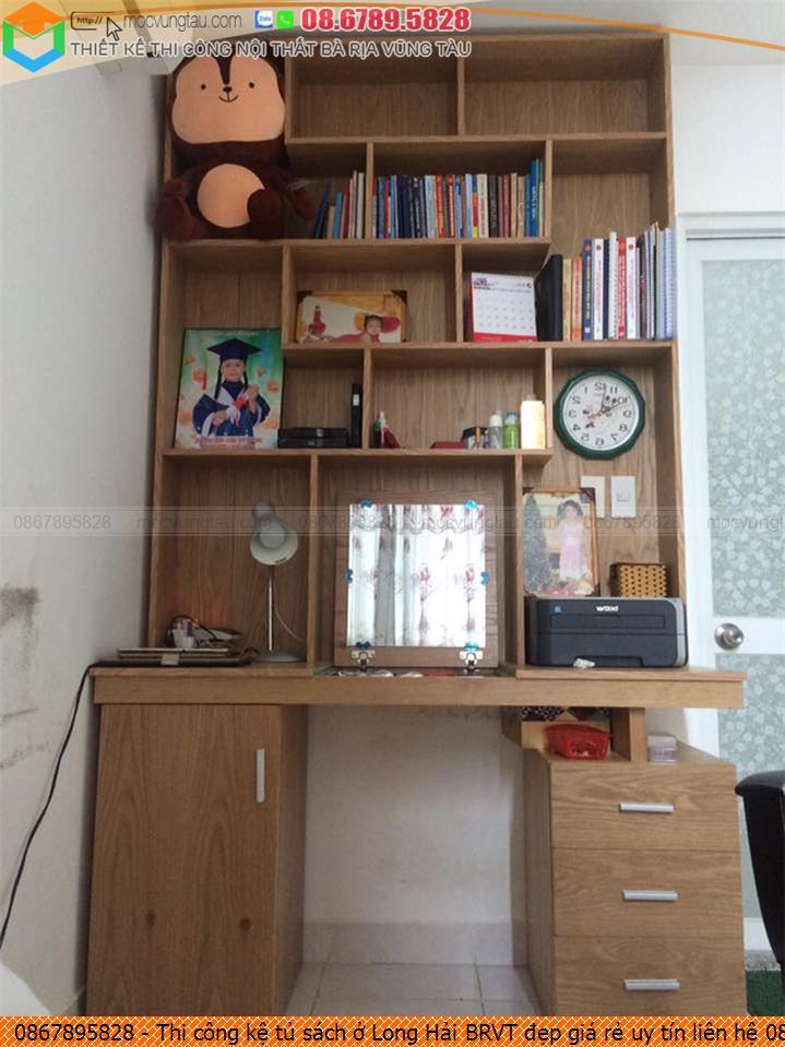 Thi công kệ tủ sách ở Long Hải BRVT đẹp giá rẻ uy tín liên hệ 086789.5828