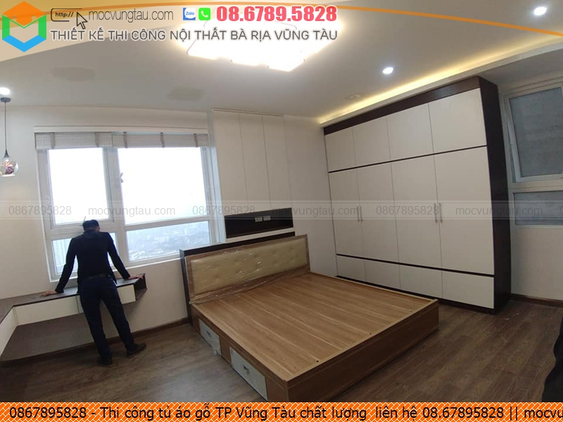 Thi công tủ áo gỗ TP Vũng Tàu chất lượng  liên hệ 08.67895828