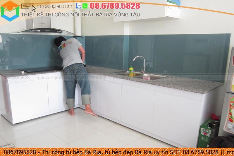 Thi công tủ bếp Bà Rịa, tủ bếp đẹp Bà Rịa uy tín SĐT 08.6789.5828
