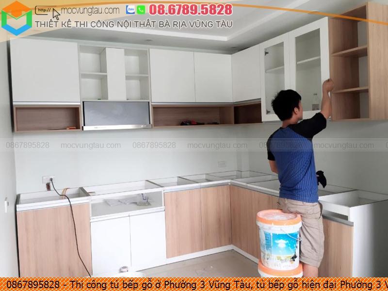Thi công tủ bếp gỗ ở Phường 3 Vũng Tàu, tủ bếp gỗ hiện đại Phường 3 Vũng Tàu chuyên nghiệp liên hệ 08.6789.5828 532619MHV