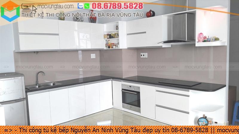Thi công tủ kệ bếp Nguyễn An Ninh Vũng Tàu đẹp uy tín 08-6789-5828