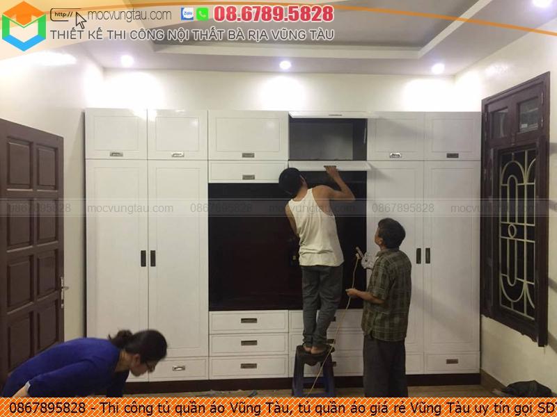Thi công tủ quần áo Vũng Tàu, tủ quần áo giá rẻ Vũng Tàu uy tín gọi SĐT 08-6789-5828