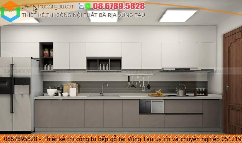 Thiết kế thi công tủ bếp gỗ tại Vũng Tàu uy tín và chuyên nghiệp 051219HAJ