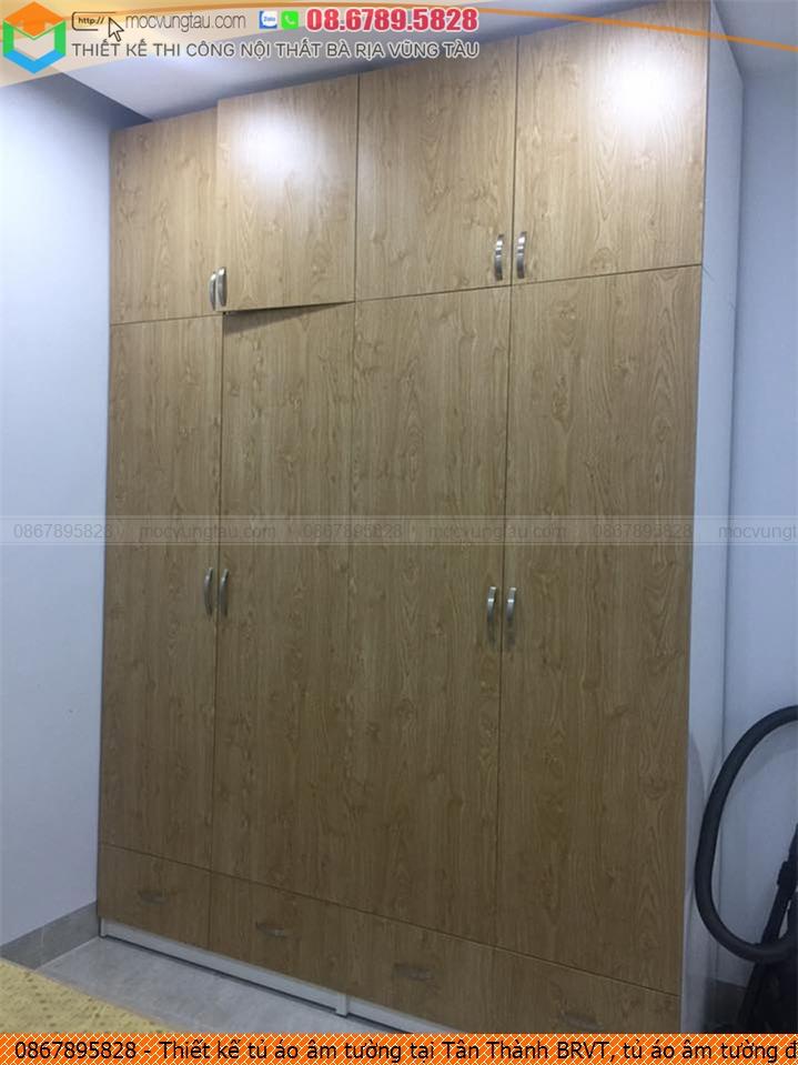 Thiết kế tủ áo âm tường tại Tân Thành BRVT, tủ áo âm tường đẹp giá rẻ Tân Thành BRVT uy tín Hotline 0867895828