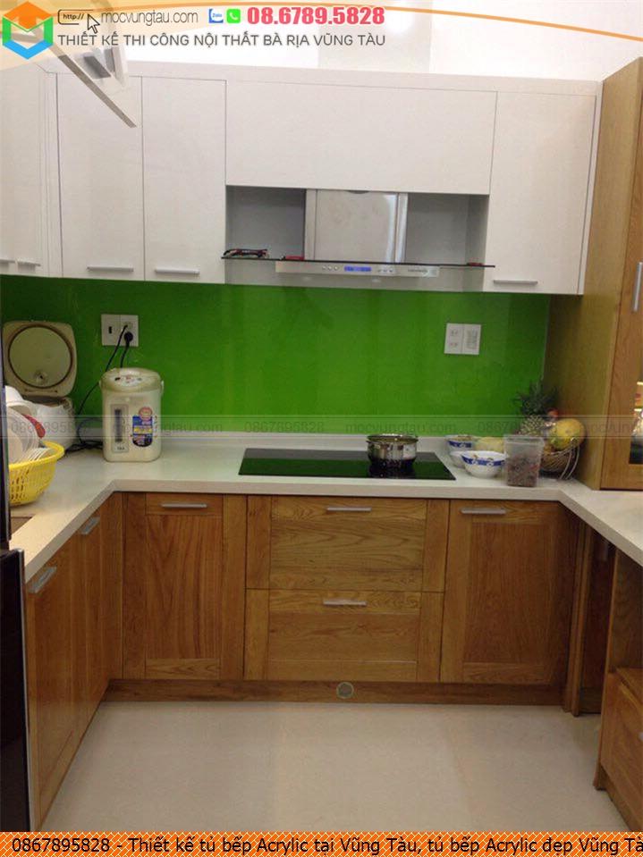 Thiết kế tủ bếp Acrylic tại Vũng Tàu, tủ bếp Acrylic đẹp Vũng Tàu chuyên nghiệp liên hệ 08-6789-5828