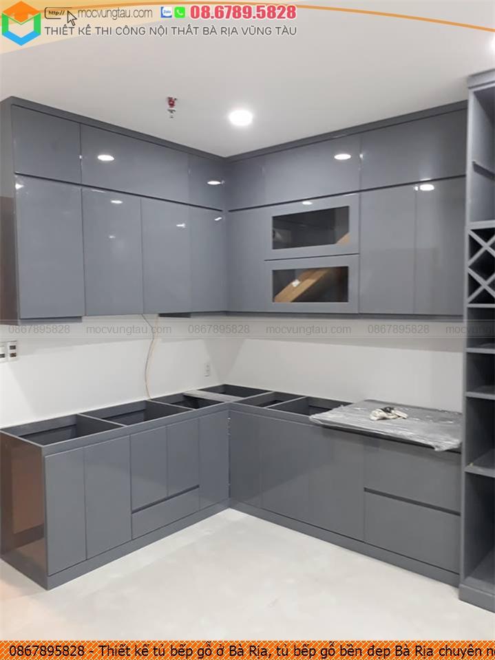 Thiết kế tủ bếp gỗ ở Bà Rịa, tủ bếp gỗ bền đẹp Bà Rịa chuyên nghiệp 086789.5828 312619JVE