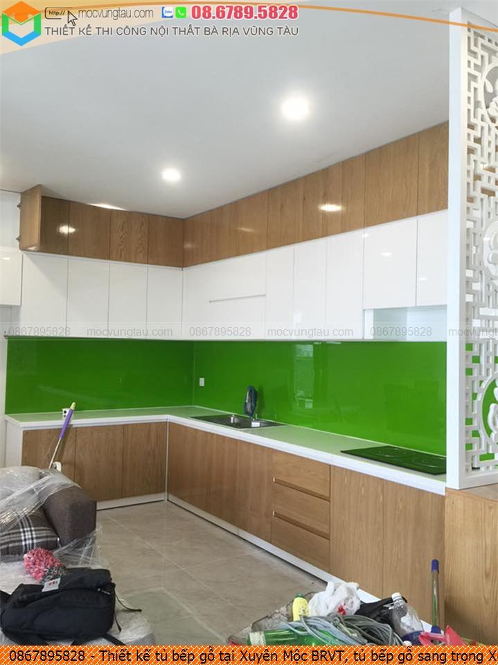 Thiết kế tủ bếp gỗ tại Xuyên Mộc BRVT, tủ bếp gỗ sang trọng Xuyên Mộc BRVT uy tín SĐT 08.6789.5828