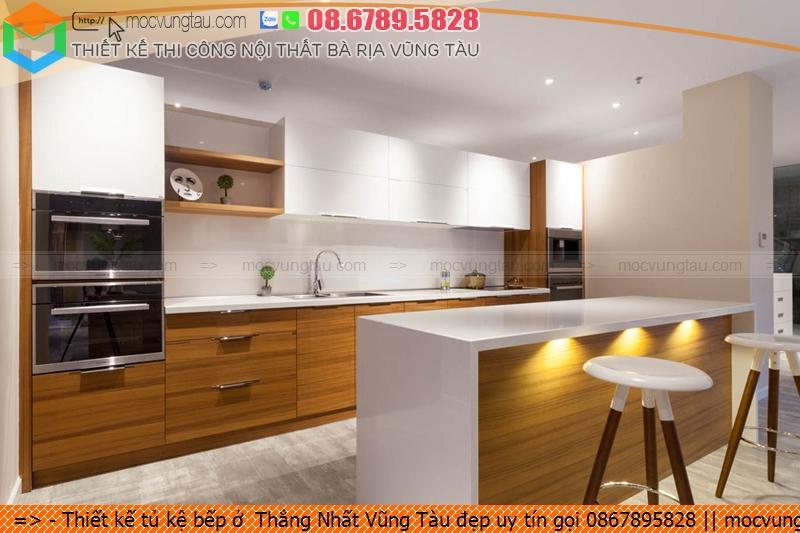 Thiết kế tủ kệ bếp ở  Thắng Nhất Vũng Tàu đẹp uy tín gọi 0867895828