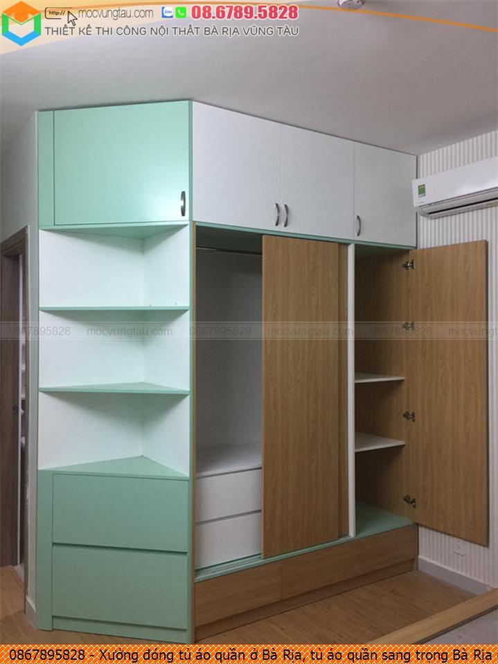 Xưởng đóng tủ áo quần ở Bà Rịa, tủ áo quần sang trọng Bà Rịa uy tín Hotline 086.7895828