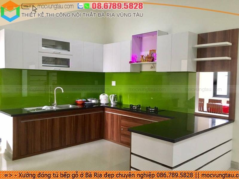Xưởng đóng tủ bếp gỗ ở Bà Rịa đẹp chuyên nghiệp 086.789.5828