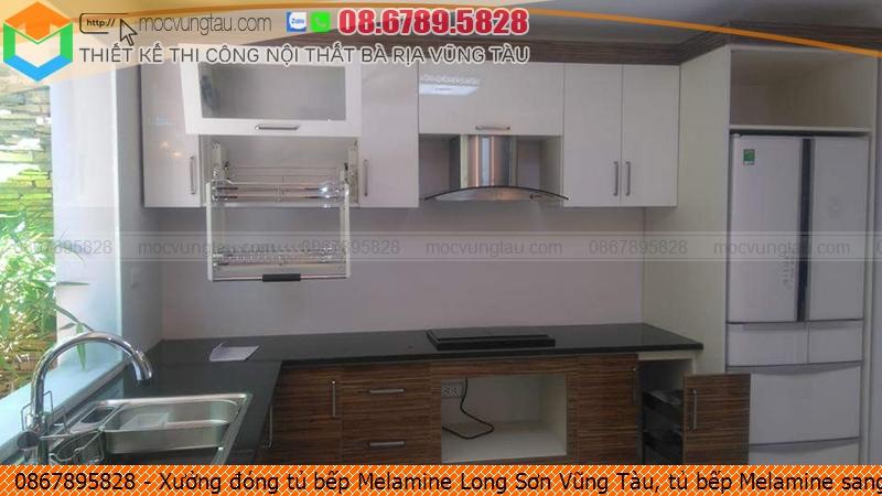 Xưởng đóng tủ bếp Melamine Long Sơn Vũng Tàu, tủ bếp Melamine sang trọng Long Sơn Vũng Tàu chuyên nghiệp 086789.5828