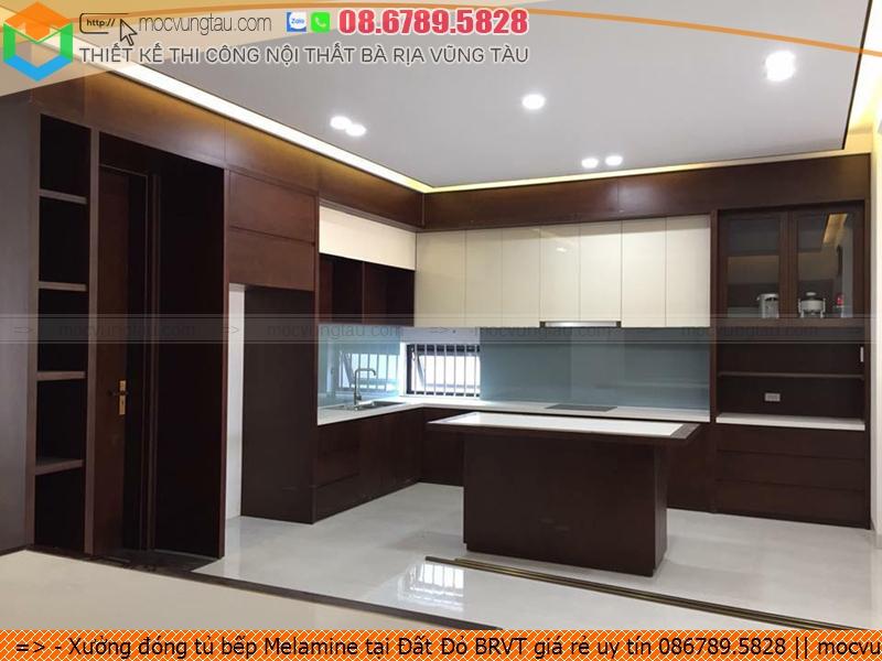 Xưởng đóng tủ bếp Melamine tại Đất Đỏ BRVT giá rẻ uy tín 086789.5828