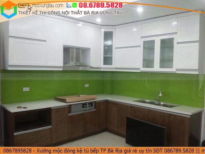 Xưởng mộc đóng kệ tủ bếp TP Bà Rịa giá rẻ uy tín SĐT 086789.5828 3826197KU