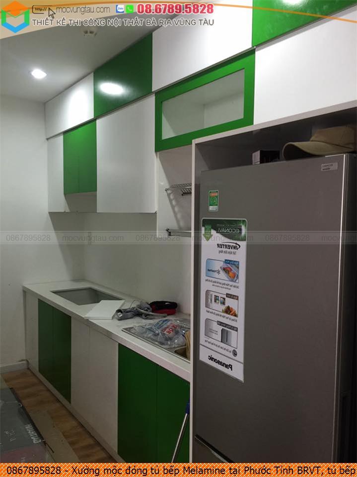 Xưởng mộc đóng tủ bếp Melamine tại Phước Tỉnh BRVT, tủ bếp Melamine sang trọng Phước Tỉnh BRVT chuyên nghiệp 086789.5828