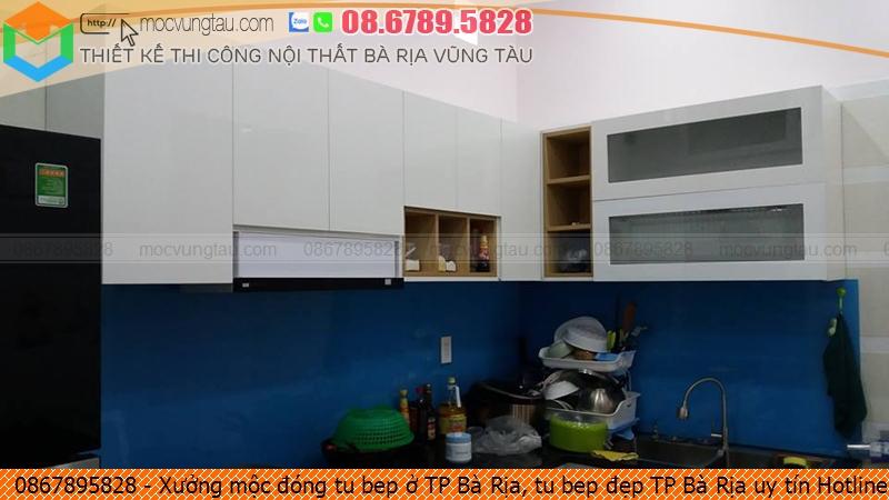 Xưởng mộc đóng tu bep ở TP Bà Rịa, tu bep đẹp TP Bà Rịa uy tín Hotline 086.789.5828 132619LH6