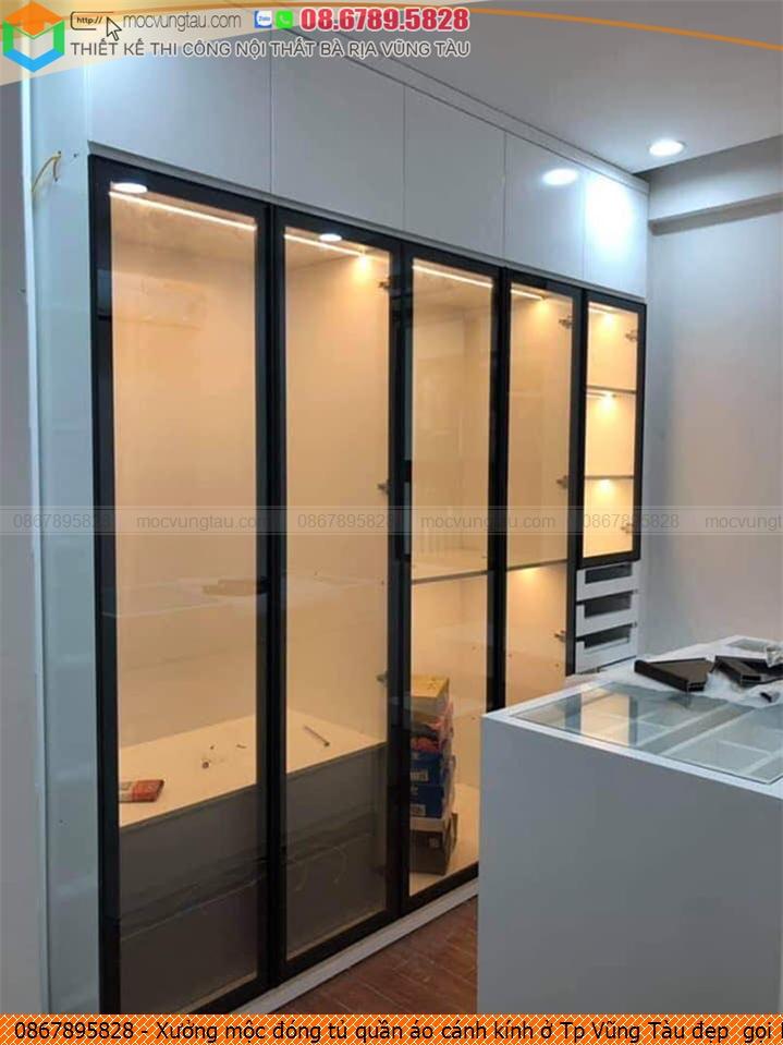 Xưởng mộc đóng tủ quần áo cánh kính ở Tp Vũng Tàu đẹp  gọi Hotline 086-789-5828