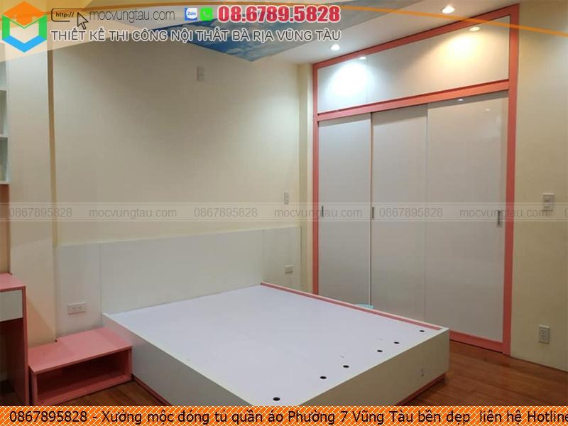 Xưởng mộc đóng tủ quần áo Phường 7 Vũng Tàu bền đẹp  liên hệ Hotline 086-789-5828