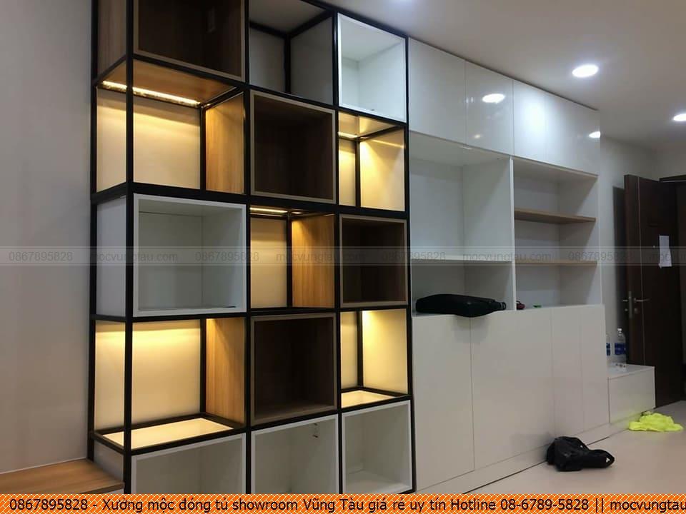 Xưởng mộc đóng tủ showroom Vũng Tàu giá rẻ uy tín Hotline 08-6789-5828