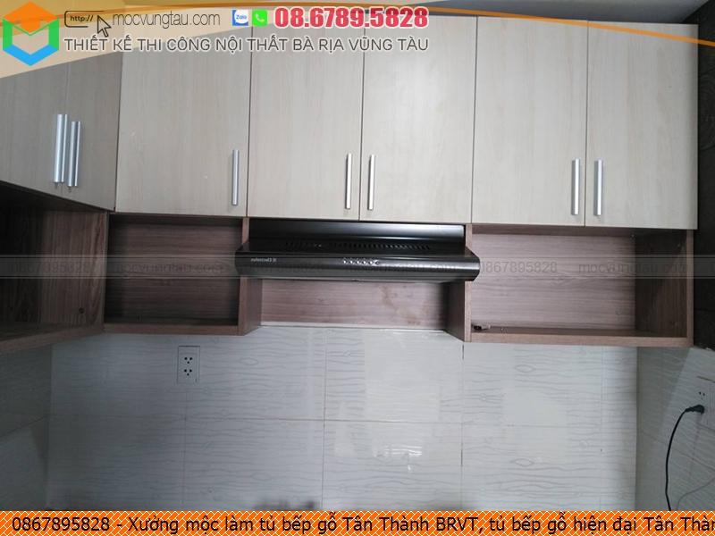 Xưởng mộc làm tủ bếp gỗ Tân Thành BRVT, tủ bếp gỗ hiện đại Tân Thành BRVT chuyên nghiệp gọi SĐT 086789.5828