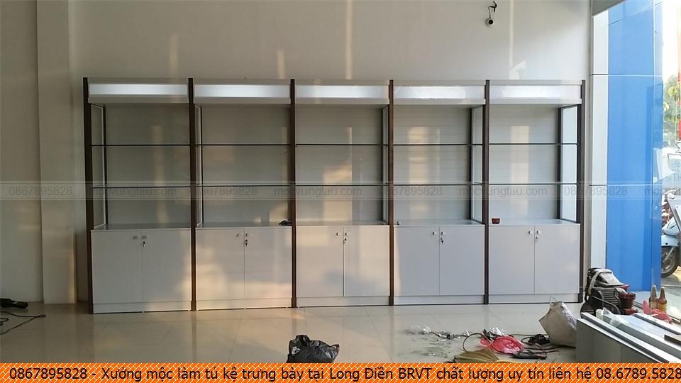 Xưởng mộc làm tủ kệ trưng bày tại Long Điền BRVT chất lượng uy tín liên hệ 08.6789.5828
